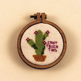 """Can't Touch This"" Flowering Cactus Cross Stitch Pattern"