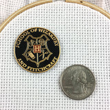 School of Wizardry and Stitchcraft : Wizard School Needle Minder or Magnet