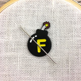 F-bomb Enamel Needle Minder or Fridge Magnet **EXCLUSIVE**