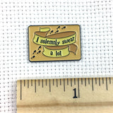 """I solemnly swear a lot"" Wizarding Map Needle Minder or Magnet"
