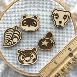 Video Game Animals Wooden Needle Minders (Set of 1, 3, 5)