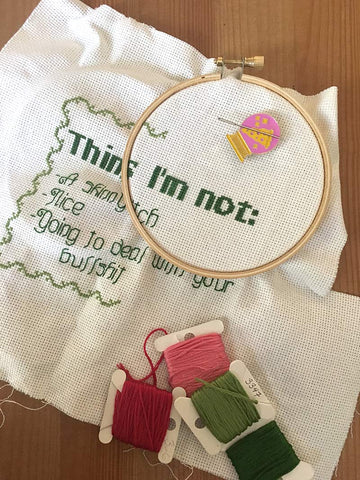 """Things I'm Not"" Cross Stitch Pattern (Pattern Only)"