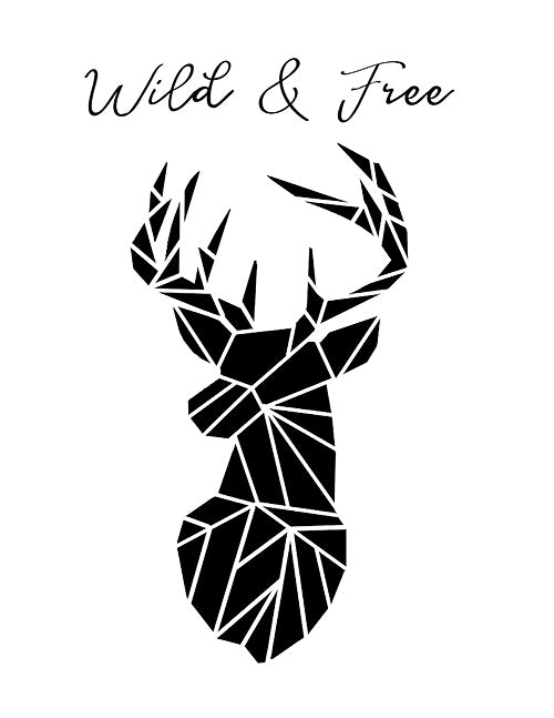 photo relating to Free Black and White Printable Art called Wild Free of charge Stags Intellect Printable