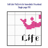 """Life is Pain"" Princess Bride Sampler Cross Stitch Pattern"