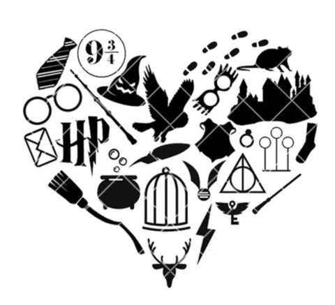 Wizarding Icon Heart SVG/PNG/EPS/JPG File