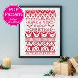 Have a Very Harry Christmas Wizarding Icons Christmas Sampler Cross Stitch Pattern