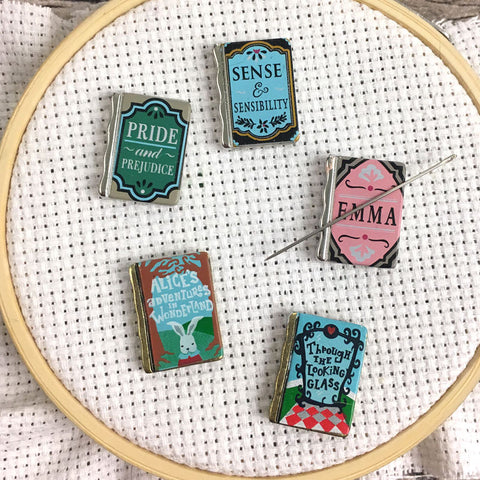 Jane Austen & Alice Wonderland Mini Book Needle Minders