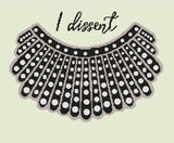 Dissent Collar RBG Tribute Cross Stitch Pattern