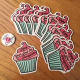 Enjoy your shut the fucupcake Laptop Stickers | Fuck Off Cupcake Vinyl Decals | Snarky Sarcastic and Rude Adhesive Self Stick Labels