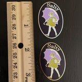 Salty Girl Needle Minder or Lapel Pin