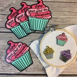 BUNDLE: Shut the Fucupcake Decal & Needle Minder | STFU Needleminder - Flask Sticker Set | Snarky CupcakeEnamel Needle Magnet - Die Cut Set