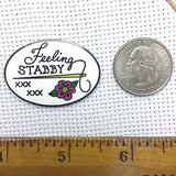 Feeling Stabby Enamel Needle Minder | Fabric Stabber Needle Mind | Snarky Sarcastic Sewing Embroidery Cross Stitch Quilting Needle Nanny