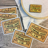 BUNDLE: I Solemnly Swear a Lot Decal & Needle Minder | Snarky Wizarding Needleminder Flask Sticker Set | Enamel Needle Magnet - Die Cut Set