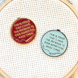 Proof I Have The Patience To Stab Something 4000 Times Needle Minder| Funny Enamel Needleminder for Cross Stitch Embroidery Quilting