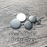 Replacement Needle Minder Backer Discs - Set of Four | Unbreakable Magnetic Steel Needleminder Holder | Metal Washers for Needle Nanny