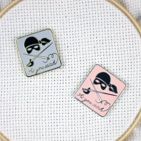 "Hard Enamel ""As You Stitch"" Princess Bride Magnetic Needle Minder 