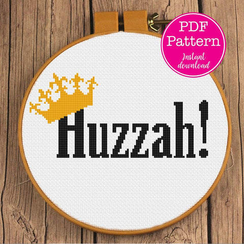 A Royal Huzzah! Cross Stitch Pattern
