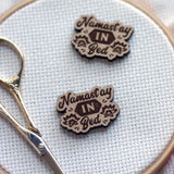 Namaste In Bed Engraved Wooden Needle Minders