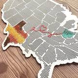 IMPERFECT Stitchable Wooden US State Maps