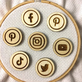 Social Media Icons Needle Minders
