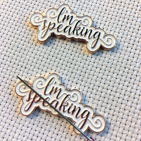 I'm Speaking Rose Gold Needle minders