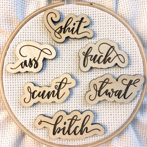 Fancy Swear Words Needle Minders