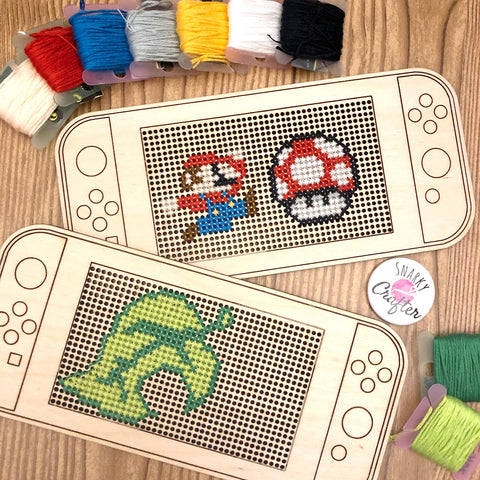Stitchable Wooden Video Game Handheld Console