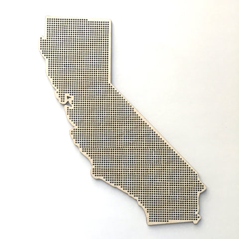 Stitchable Wooden California State Silhouette