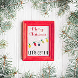 Let's Get Lit - Merry Christmas Sampler Cross Stitch Pattern
