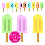 Printable Popsicle Banner (Full Alphabet) SVG/PNG/EPS/JPG