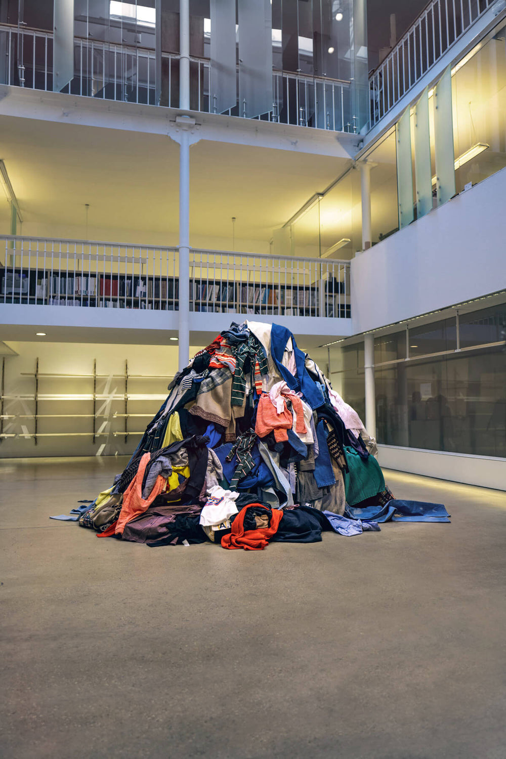 a photo featuring a pile of recycled clothes