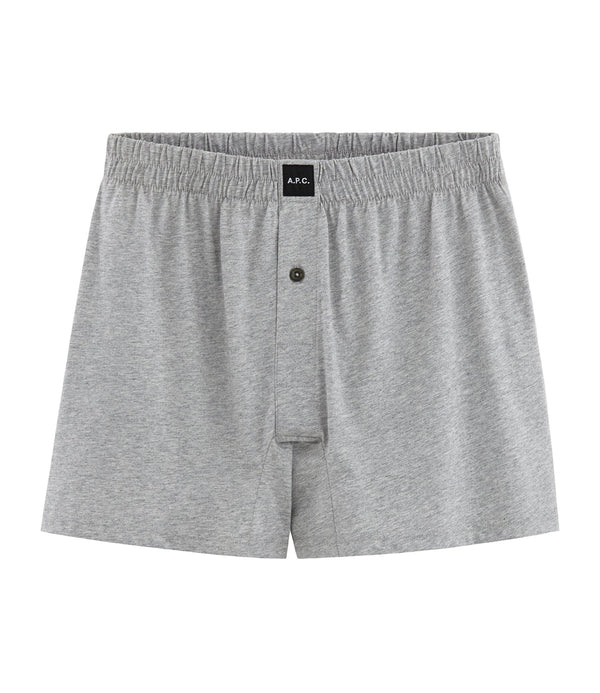 Cabourg boxer shorts - PLB - Pale heathered gray