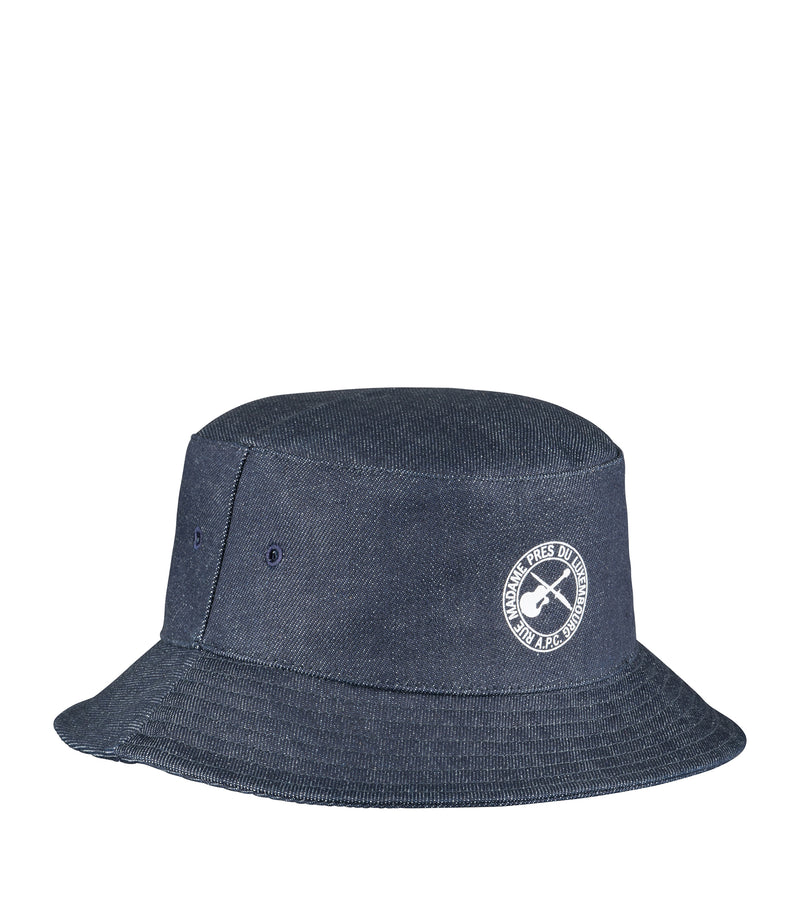 This is the Alex guitar and dagger bucket hat product item. Style IAI-1 is shown.