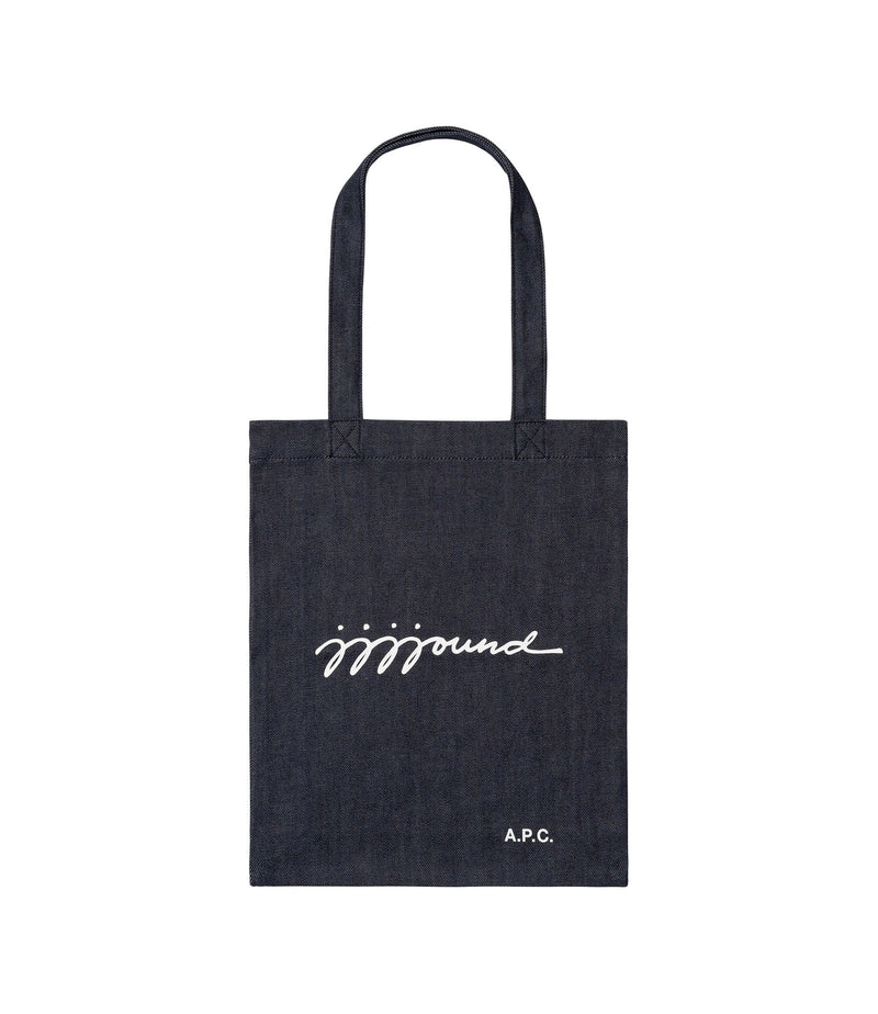 This is the JJJJound tote bag product item. Style IAI-1 is shown.