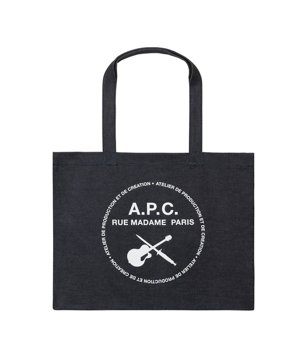 Guitare Poignard shopping bag - IAI - Indigo