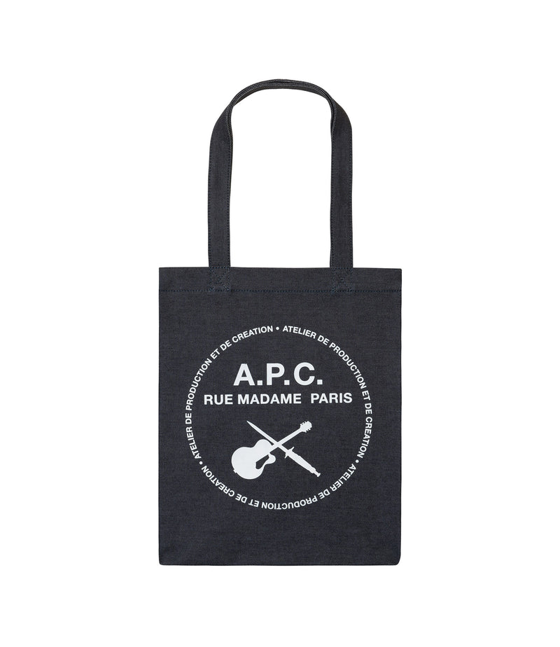 This is the Guitare Poignard tote bag product item. Style IAI-1 is shown.