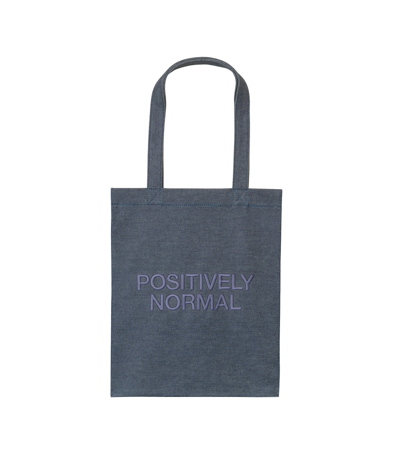 This is the Positively Normal tote bag product item. Style IAK-1 is shown.