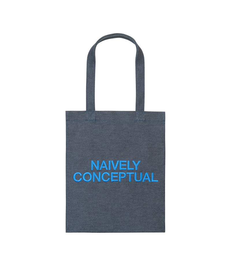 This is the Naively Conceptual tote bag product item. Style IAA-1 is shown.