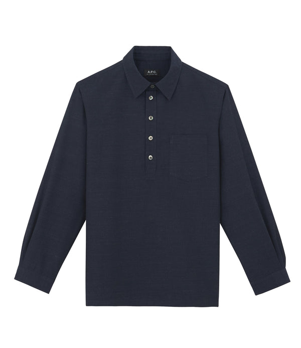 Luke liquette shirt - IAK - Dark navy blue