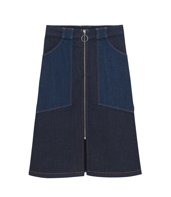 Joe skirt - IAL - Stonewashed indigo
