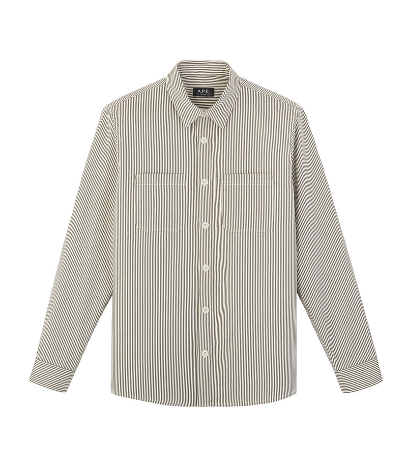 This is the David overshirt product item. Style LAA-1 is shown.
