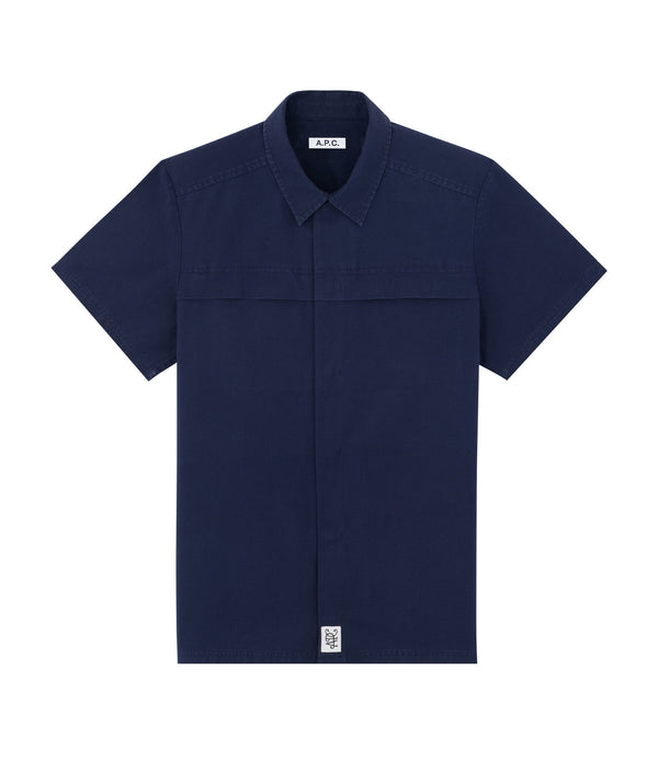 Midway short-sleeve shirt - IAJ - Navy blue
