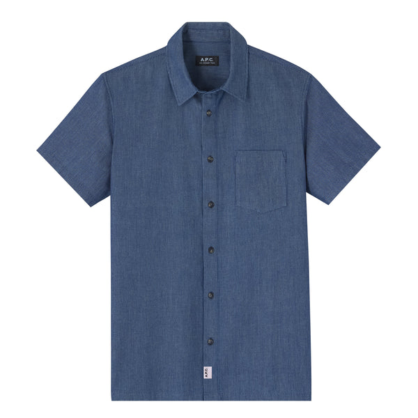 Janis short-sleeve shirt - IAL - Stonewashed indigo