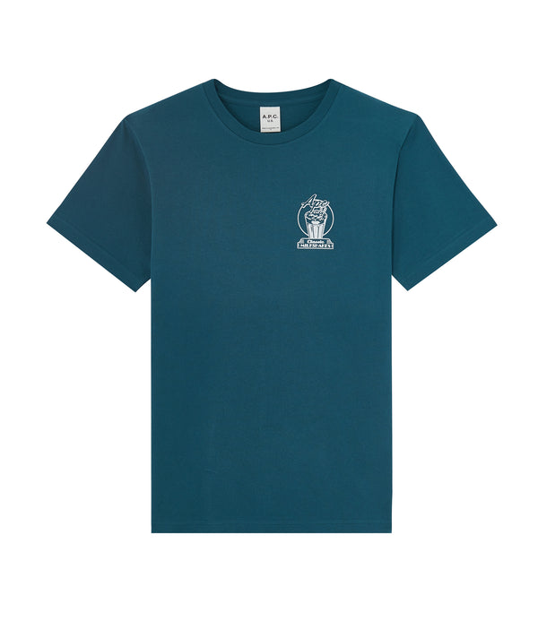 Blake T-shirt - IAE - Peacock blue