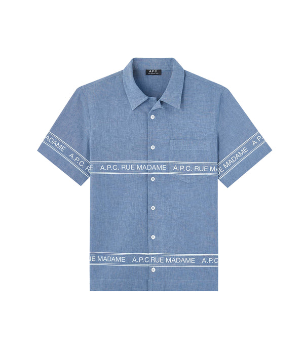 Logo short-sleeve shirt - IAI - Indigo