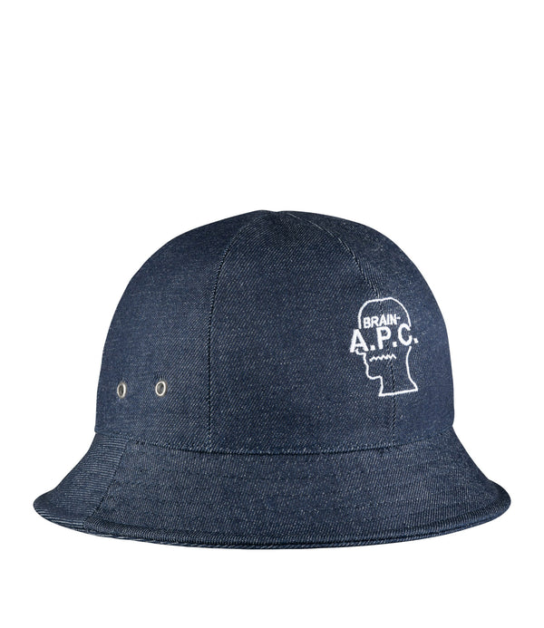 Brain Dead bucket hat - IAL - Stonewashed indigo