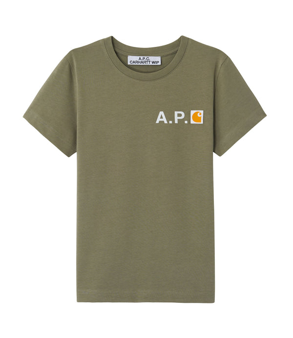Fire T-shirt - JAA - Khaki green