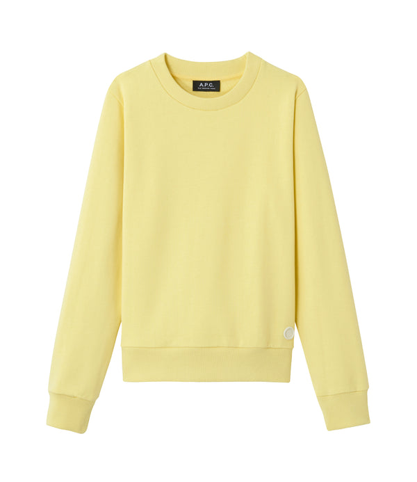 Label sweatshirt - DAB - Pale yellow