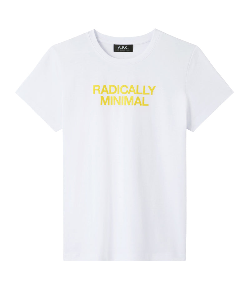 This is the Radically Minimal T-shirt product item. Style AAB-1 is shown.