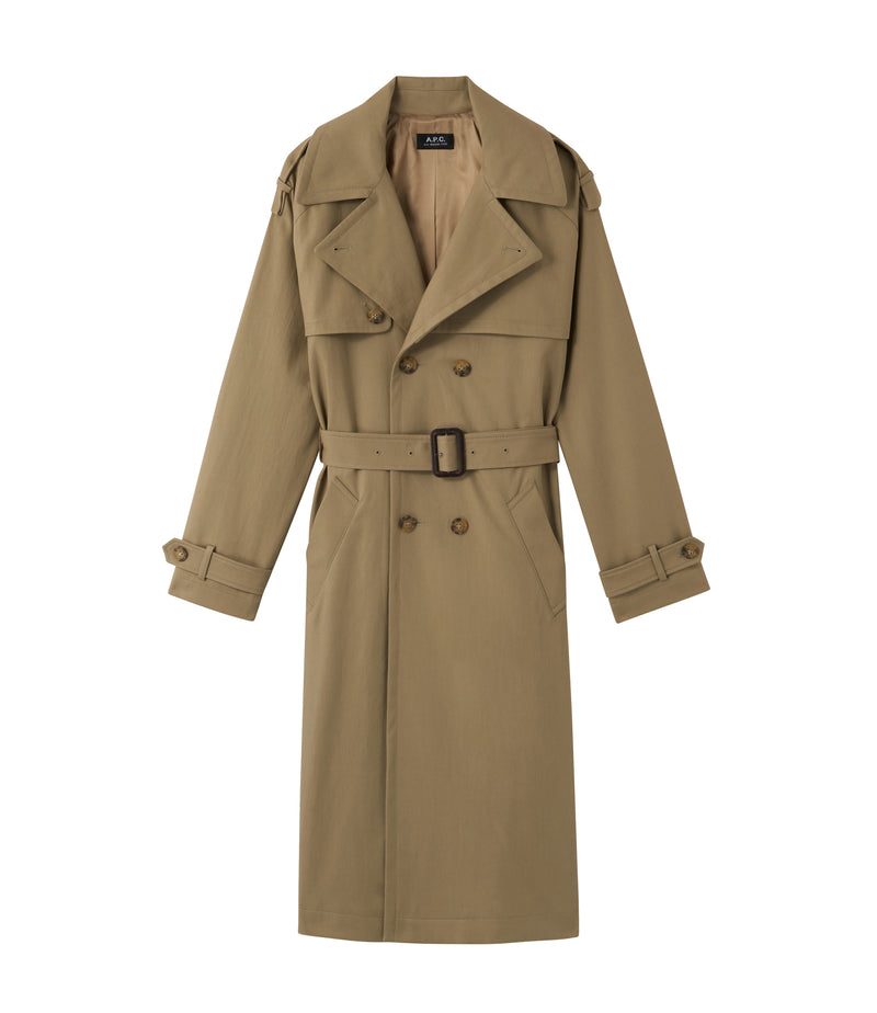 This is the Simone trench coat product item. Style BAA-1 is shown.